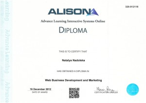 Diploma in Web Business Development and Marketing