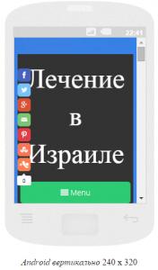 Сайт в Android-240x320