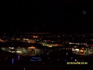 Вид с открытой площадки отеля на ночной Шарм эль Шейх