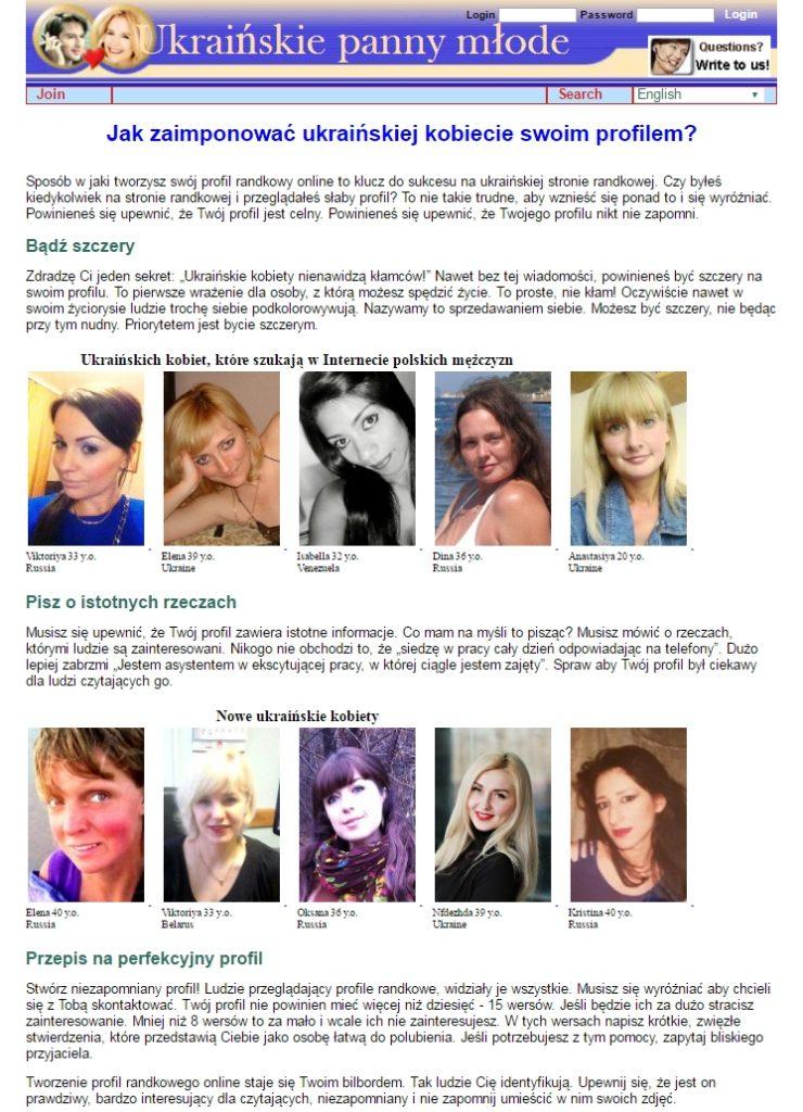 Копирайтинг на польском: Как заинтересовать украинок при помощи Вашего профайла?