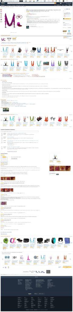 Продаём на Амазоне гамак для воздушной йоги