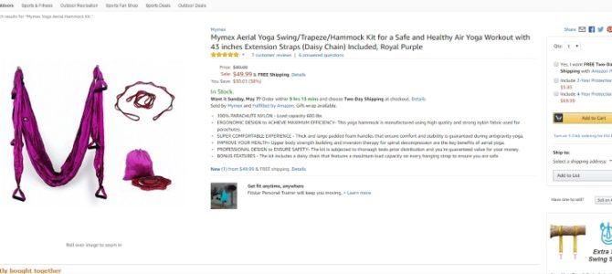 Продающий текст на английском для Amazon: гамак для воздушной йоги