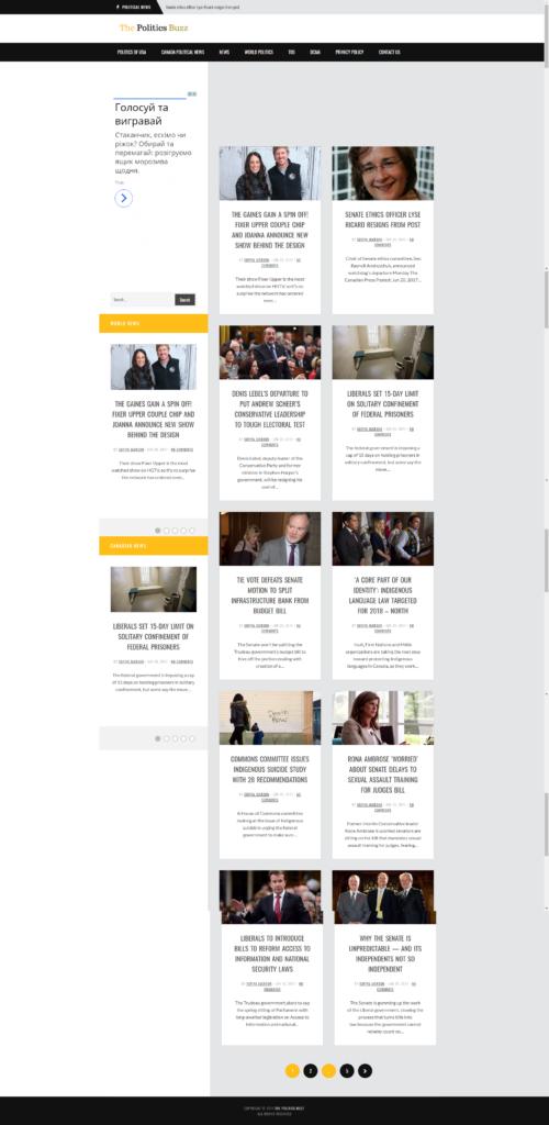 ThePoliticsBuzz - главная страница