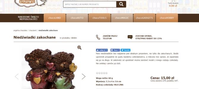 Тексты на польском для Интернет-магазина шоколадных изделий