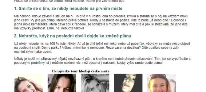 Копирайтинг на чешском: отношения с украинкой, которая имеет ребёнка