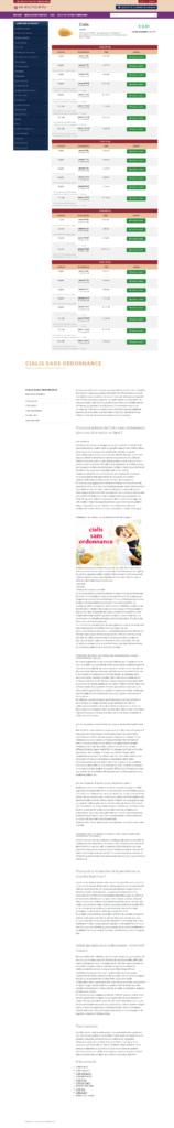 Медицинский копирайтинг на французском: Циалис без рецепта