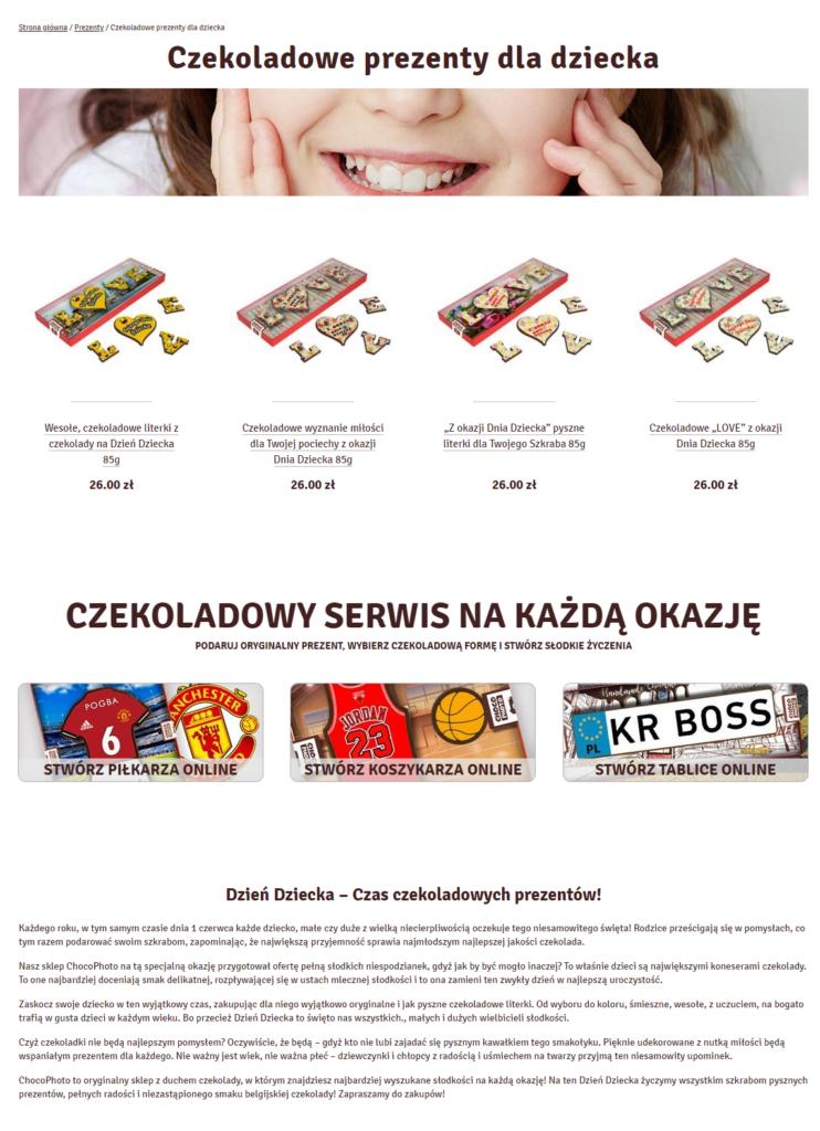 Описание категории товаров на польском