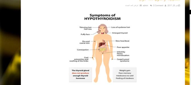 Копирайтинг на арабском: гипотиреоз – его причины, симптомы и лечение
