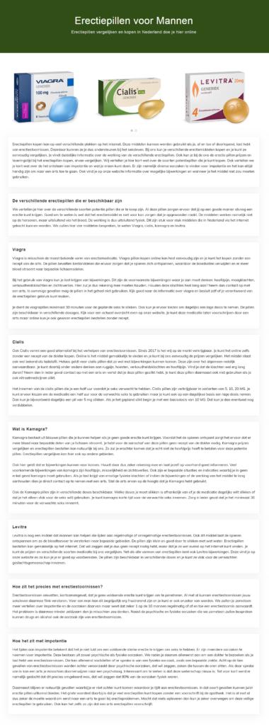 Медицинский копирайтинг на голландском для главной страницы сайта
