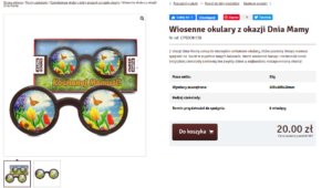 Описание товара на польском. Очки.