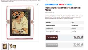 Описание продукта на польском. Картина на тему мамы и ребёнка.