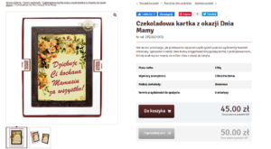 """Описание товара на польском. Сюжет """"поздравительная открытка""""."""
