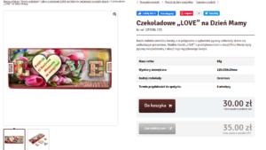 Описание товара на польском. Буквы LOVE