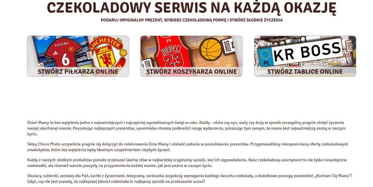 Копирайтинг на польском: описания товаров и категории Dzień Mamy