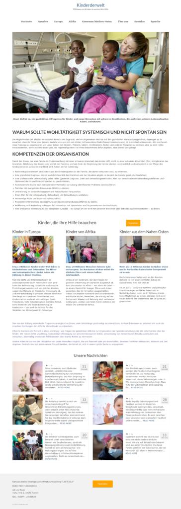 Главная страница сайта Kinderderwelt