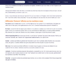 Копирайтинг на французском: описание категории слот-машин. Продолжение