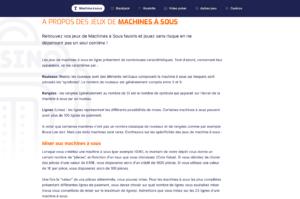 Копирайтинг на французском: описание категории слот-машин
