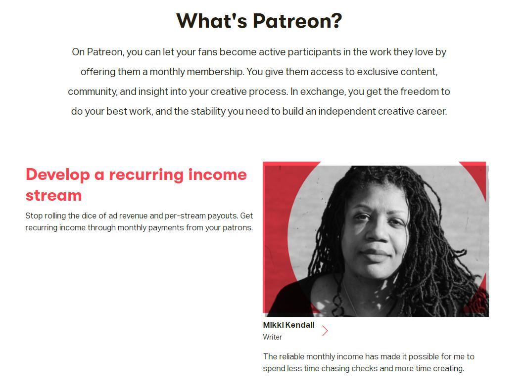 Как заработать в Интернете в период коронавируса и не только: Patreon